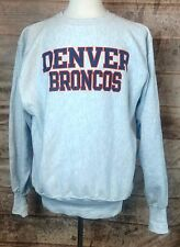 VTG DENVER BRONCOS NFL Football Champion Tri-Blend Reverse Weave Sweatshirt XL