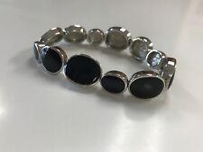 "Lia Sophia ""HOCUS POCUS"" Black & Silver Stretch Bracelet MSRP $68"