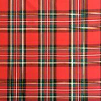 CV109 Tartan Plaid Kilt Men's Fashion 100% Cotton Apparel Home Decor Fabric
