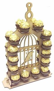 Small Detailed Bird Cage Ferrero Rocher Chocolate Wedding Table  Display Stand