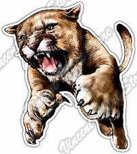 "Cougar Crawling Cat Wildlife Mascot Animal Car Bumper Vinyl Sticker Decal 4""X5"""