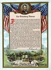 Graphic of Abraham Lincoln's Gettysburg Address - Historic Art Print