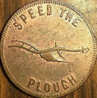 PEI SUCCESS TO THE FISHERIES SPEED THE PLOUGH HALF PENNY TOKEN - Hook