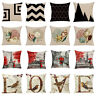 AD_ Beauty Seashell Tower Flower Pillow Case Cushion Cover Sofa Bed Car Cafe Dec