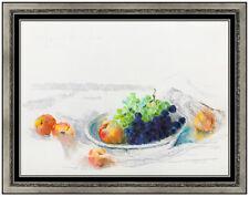 Hobson Pittman Original Pastel Painting Hand Signed Still Life Fruit Food Art