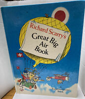 Richard Scarry's Great Big Air Book Large Hardcover Vintage 1971 1st Edition.
