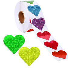 Scrapbooking Packaging Labels Sparkle Valentine's Day Heart Shape Stickers Love
