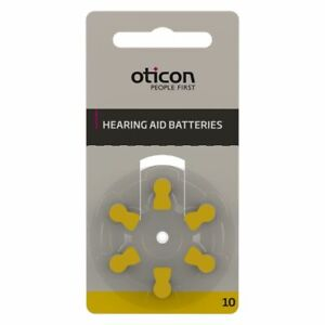 Oticon Hearing Aid Batteries Size 10