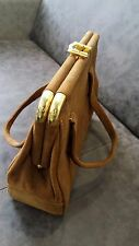 Vintage Women's Bag / All Suede / Light Brown Color
