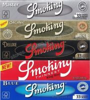 Smoking Kingsize Rolling Papers - Silver, Organic, Deluxe, Red Thinnest Paper