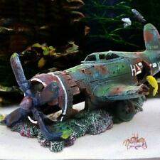 Aquarium Resin Warplane Airplane Fish Tank Wreckage Hide Cave Decoration Crafts