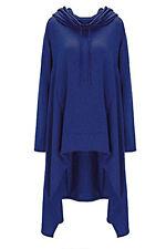 Damen Hoodie Hooded Lange Kapuzenpullover Sweatshirt Strickjacke Asymmetrisch