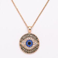 Good Luckly Evil Eye Chic Crystal Rhinestone Pendant Turkish Retro Necklace Gift