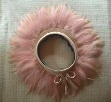 Women's Vintage J.W. Robinson Co. Pink Feather Hat, Era 1940's