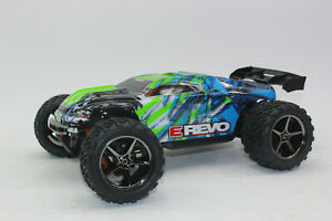 Traxxas 71054 -1 Green 1:16 RC E-Revo 4x4 Rtr +12V Charger+Battery New Boxed