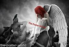 Gothic Style Angel Image Picture Poster Home Art Print  Wall Decor New