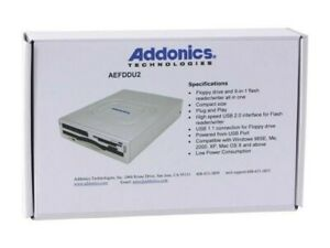 Addonics AEFDDU2 9-in-1 USB 2.0 Pocket Floppy DigiDrive Combo Flash/Floppy Drive