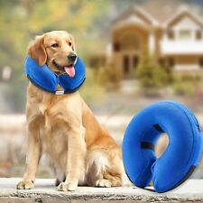 Blue  Inflatable Dog Cat Vet Collar Alternative To Lampshade Elizabethan Collar