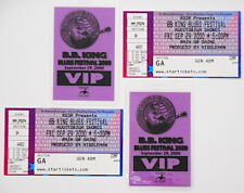 B.B KING Blues Festival 2000 Austin, TX Laminated VIP Passes Set of 2 w/Tickets