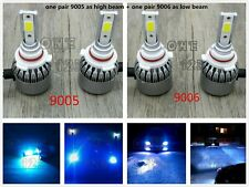 9005+9006 Combo LED Headlights Bulbs 8000k ice blue 55W 8000LM Kit High Low Beam