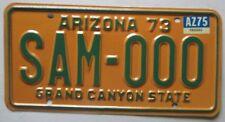 Arizona 1975 SAMPLE License Plate # SAM-000