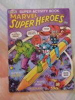 Super Heroes Activity BK 1983 Marvel Books Hulk Thor Iron Man Captain America K7