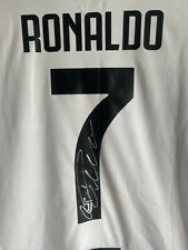 More details for cristiano ronaldo signed shirt man united, juventus, real madrid goat cr7