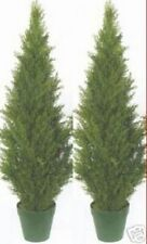 "2 TOPIARY 48"" OUTDOOR UV PLANT ARTIFICIAL BUSH CYPRESS TREE CEDAR PINE 4' PATIO"