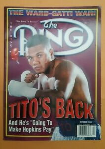 The Ring Boxing Magazine: October 2002. Felix Trinidad. Gatti-Ward Feature.