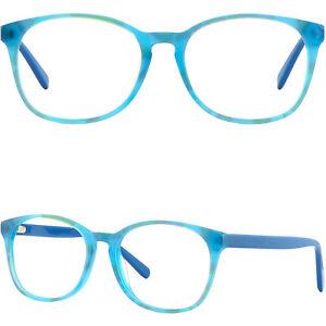 Thin Light Women Frame Acetate Prescription Eyeglasses Glasses Spring Hinge Blue
