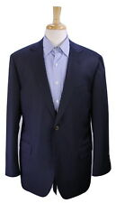 * GIOVANNI CASTANGIA * Solid Navy Blue 2B Super 110's Wool Sportcoat Blazer 44R
