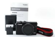 """""""Mint"""" Canon EOS M100 24.2MP Digital Camera Black Body Only From Japan By FedEx"""