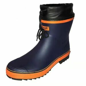 Men Rain Boots Waterproof Mid Calf Male Shoes Winter Camouflage Snow Wellies