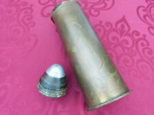 More details for ww1 trench art paper weight shell fuse possibly 18lbr field gun plus shell case