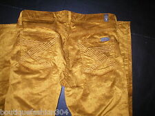 New 7 for All Mankind Pants Ribbed Gold Boot Cord Corduroy Jeans 29 Womens Shine