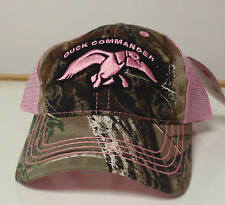 DUCK COMMANDER NWT CAMOUFLAGE PINK  HAT CAP DUCK DYNASTY WOMENS LADIES MENS