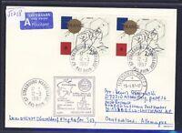 52728) LH LF Düsseldorf - Oslo Norwegen 6.4.97, cover Brief ab Frankreich