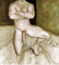 Painting NUDE art MALE Neal 1/44/50 Esteban Realism Signed US FREE SHIP