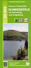 "Wanderkarte ""Schmiedefeld am Rennsteig"" im Naturpark Thüringer Wald / 1:25 000"