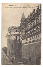 amboise , château ,tour charles VIII et balcon en fer forgé