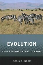 Evolution What Everyone Needs to Know (R) by Robin Dunbar 9780190922887