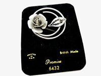 Vintage Unused Silver Tone Circular Flower Sarah Coventry Brooch Pin