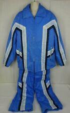 Vtg 2 Piece Blue Snowsuit Jacket Bib Pants ~ Mustang Ski Boutique Seoul, Korea ~