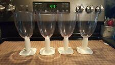 Bodum Oktett White Water Wine Glass Tumblers Vintage Set of 4 Plastic Stem 16 oz