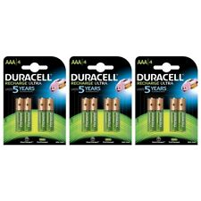 12 Pack Duracell AAA NiMH Rechargeable Batteries Duralock Pre/Stay Charged 900mA