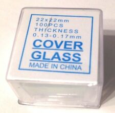 CapitolBrand Glass Microscope Slide Covers Slip 22 x 22 mm #1 Thickness(1 box)