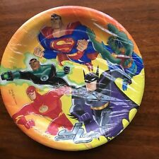 DC Justice League  Animated JLU Birthday Party Paper Plates New Sealed