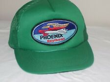 Vintage Green Phoenix Raytheon Trucker Hat Street Wear Snap Back Rocket Missle