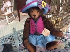 Artist Bear-One Of A Kind- Stier Bear By Kathleen Wallace