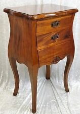 NEW SOLID MAHOGANY FRENCH DESIGN SIDE TABLE WITH DRAWERS. FREE DELIVERY